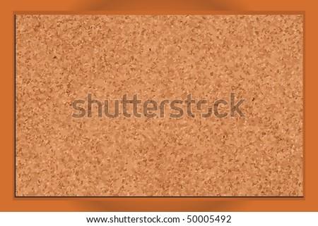 Realistic blank corkboard with corkboard texture - stock vector