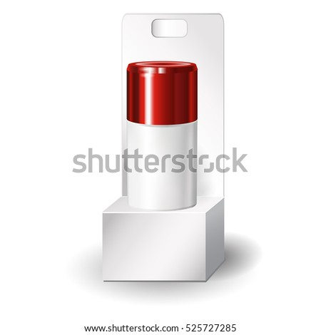 realistic blank cosmetic vial, flask. Tube of cream. Outside package. 3d illustration.