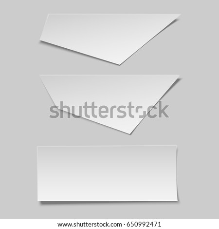 Realistic blank Paper Pieces Mockup for Banner