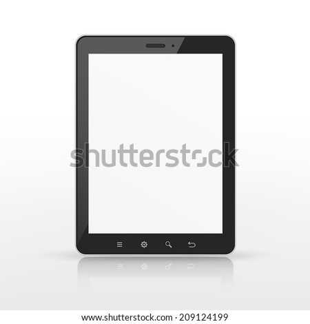 realistic blank tablet template isolated on white  background
