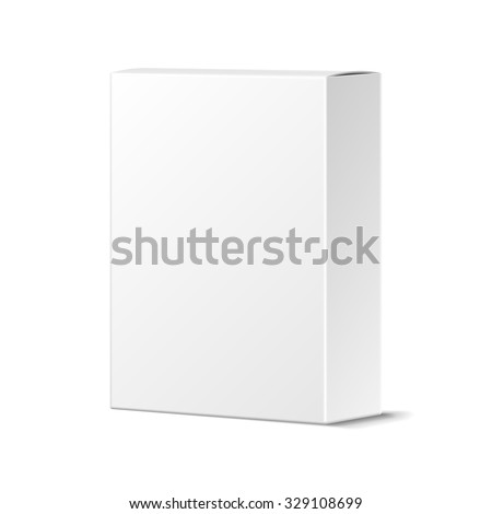 Realistic Blank White Product Package Box Mock-up. Container, Packaging Template. Vector. - stock vector