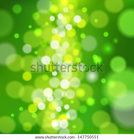 realistic bokeh lights - vector background