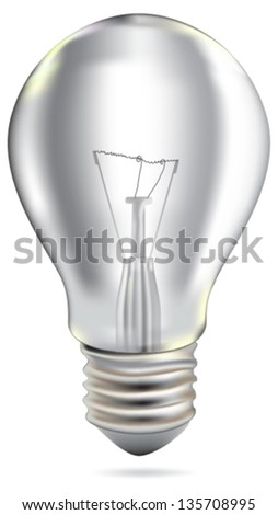 Realistic Bulb isolated on white.Vector Illustration