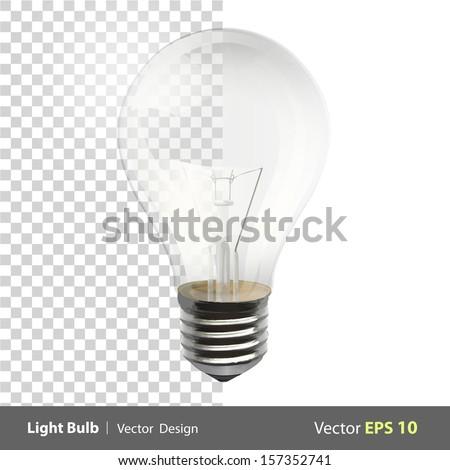 Realistic bulb. Realistic vector design.  - stock vector