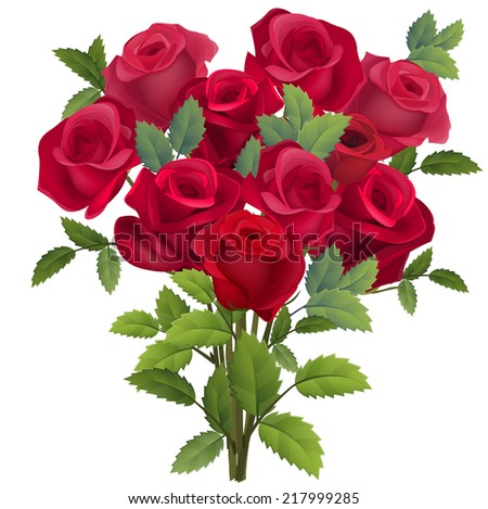 stock-vector-realistic-bunch-of-red-roses-on-white-217999285