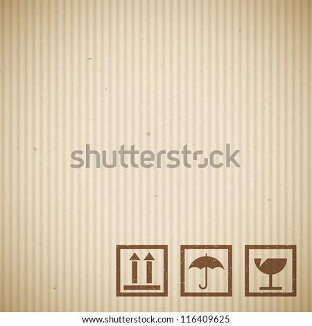 Realistic cardboard texture - stock vector