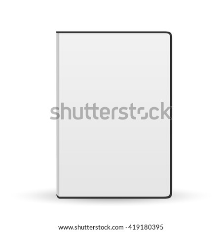 Realistic Case for DVD Or CD Disk. Vector Illustration - stock vector