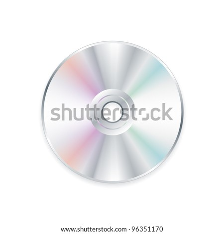 Realistic CD or DVD eps8 vector - stock vector