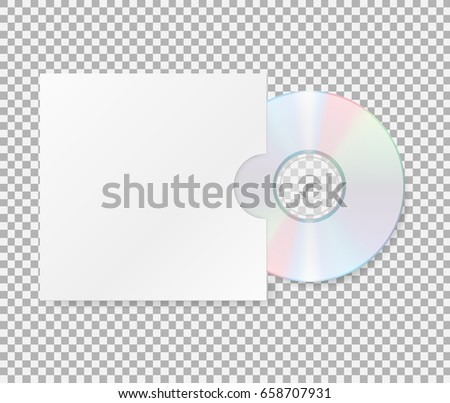 Realistic Cd Cover Close Cd Dvd Stock Vector 658707931 - Shutterstock