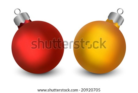 Realistic Christmas Baubles - Vector - stock vector
