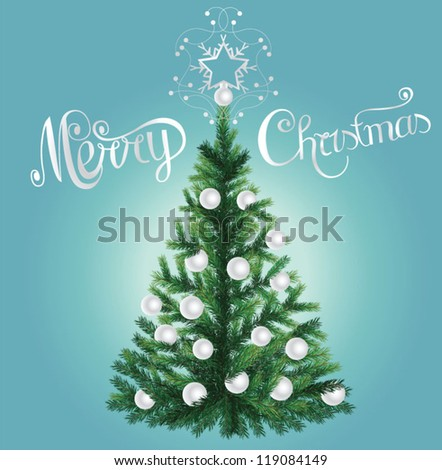 Realistic Christmas tree - stock vector