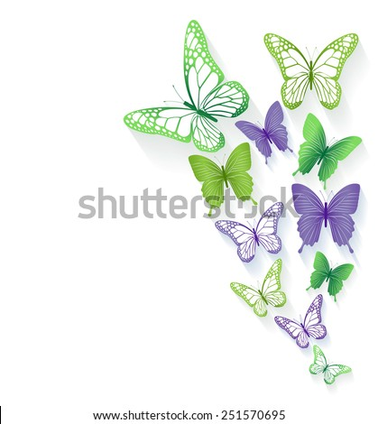 Realistic Colorful Butterflies Isolated for Spring. Editable Vector Illustration - stock vector