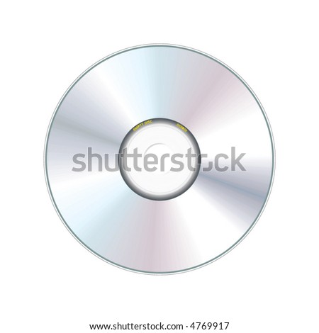 realistic compact disc - vector - stock vector