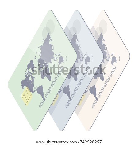 Realistic credit card world map payment stock vector 749528257 realistic credit card with world map payment on the website finance symbol trendy gumiabroncs Image collections