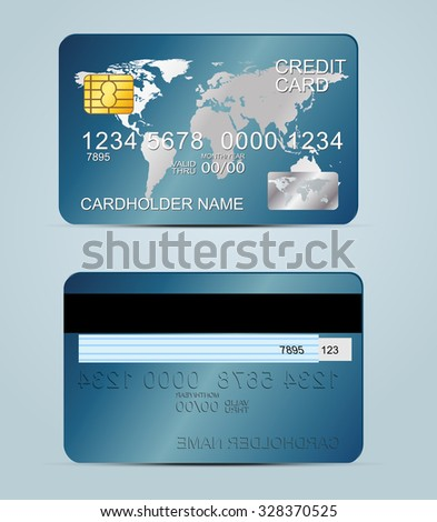 Credit Card Sample Illustration Detailed Credit Stock Vector ...