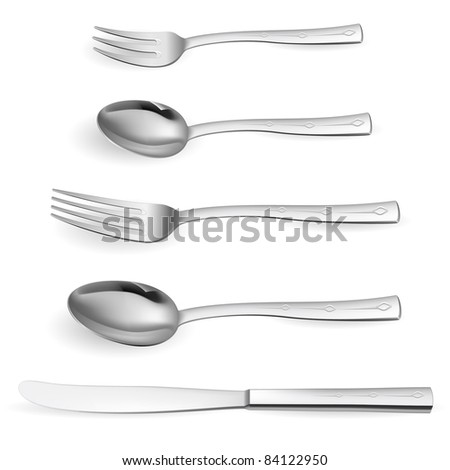 Realistic cutlery. Realistic cutlery. Illustration on white background for design - stock vector