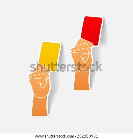 realistic design element: card - stock vector