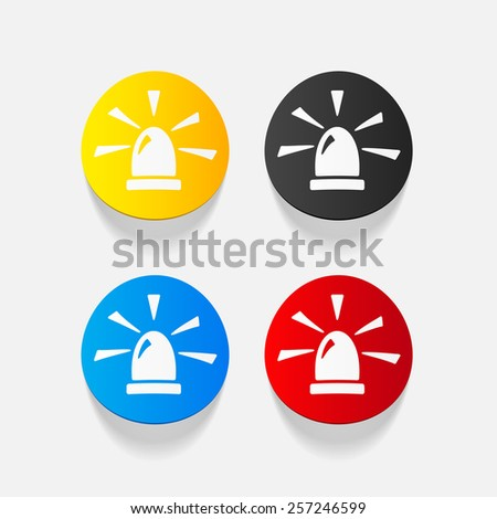 realistic design element. flasher - stock vector
