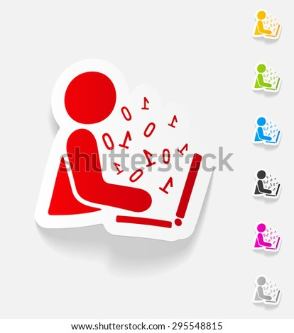 realistic design element. hacker - stock vector