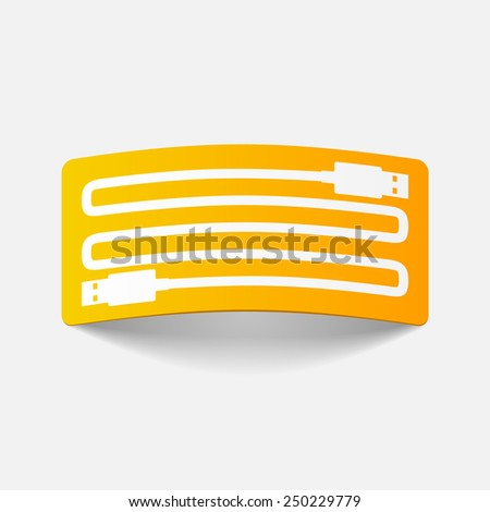 realistic design element: usb-plug. Vector Illustration - stock vector
