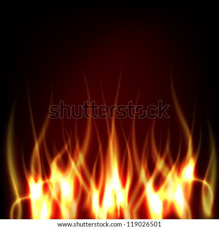 Realistic Fire - stock vector
