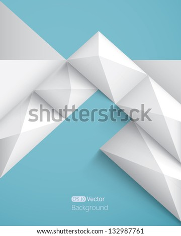 Realistic geometrical background with pyramids - stock vector