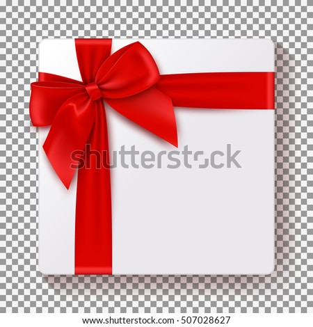 Realistic Gift Box Isolated On Transparent Stock Vector (2018 ...