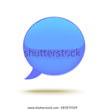 Realistic Glass Vector Speech Bubble.