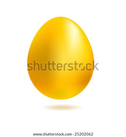 Realistic golden vector egg - stock vector