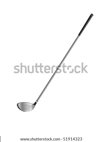 Realistic golf club - driver with silver shaft - stock vector