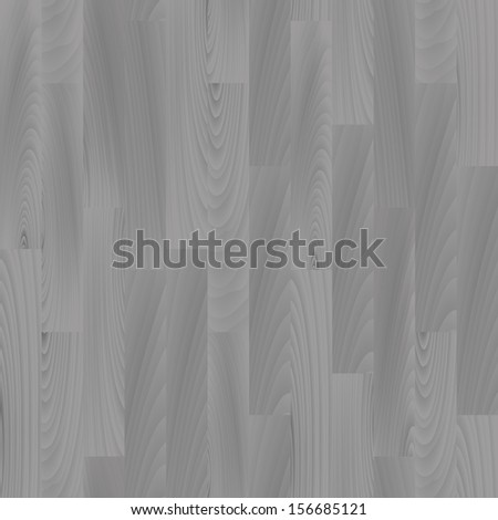 Realistic gray wooden floor seamless pattern, vector - stock vector
