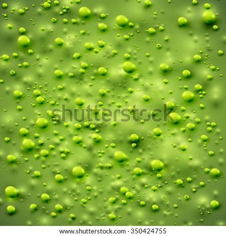 Realistic green slime skin, vector - stock vector