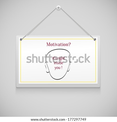 Realistic hanging advertisement canvas, panel, billboard, banner with reminder. Design element