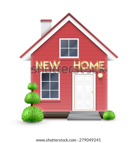 New house stock vectors vector clip art shutterstock for New home sign