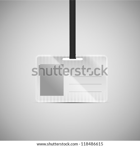 Realistic Id holder - stock vector