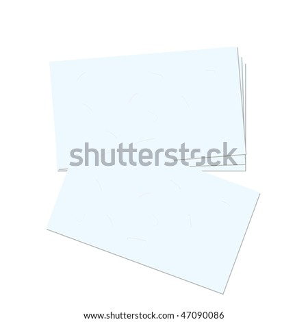 Realistic illustration business card - vector