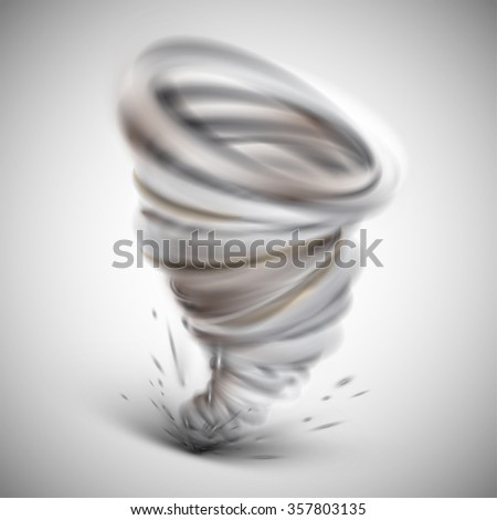 Realistic illustration of a hurricane, vector - stock vector