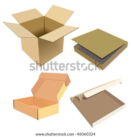Realistic illustration of box - vector - stock vector