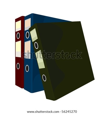 Realistic illustration of close folders isolated on white background - vector - stock vector