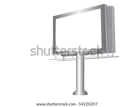 Realistic illustration of modern billboard isolated over white