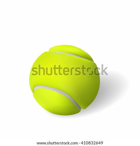 Realistic illustration of tennis ball, isolated on white backround.