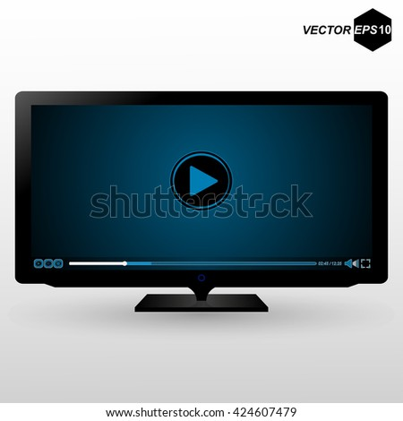 Realistic illustration of TV. EPS 10. Vector illustration