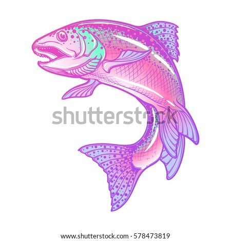 tropical cartoon fish