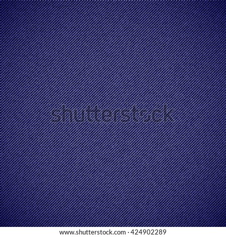 Realistic jeans seamless texture in deep blue colors. Denim pattern background. Vector illustration - stock vector