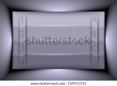 realistic metallic background. shiny metallic board, plate. business concept presentation background, layout - stock vector