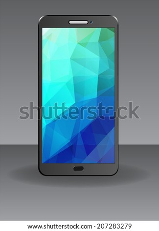 Realistic Mobile Phone Isolated - stock vector