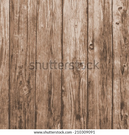 realistic natural plank wood texture background. vector illustration. - stock vector