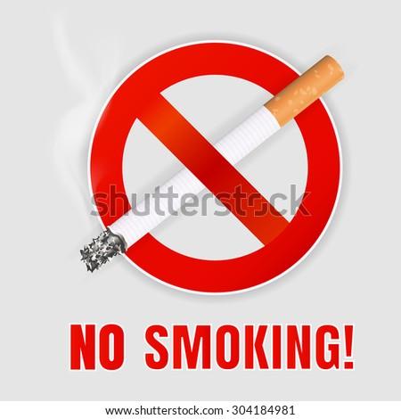 Realistic No smoking sign. - stock vector