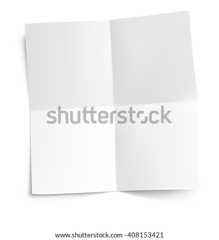 Realistic note paper on white background. Vector illustration. Ready for your design. - stock vector