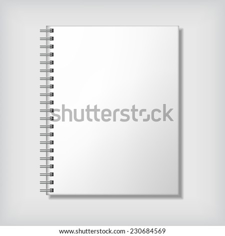 Realistic notebook mock up - stock vector